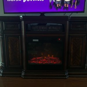 60 inch tv shelf and fireplace